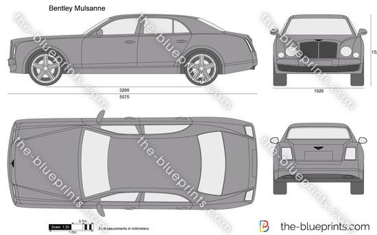 Bentley Mulsanne Vector Drawing