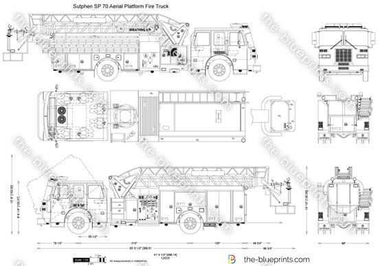 Sutphen SP 70 Aerial Platform Fire Truck