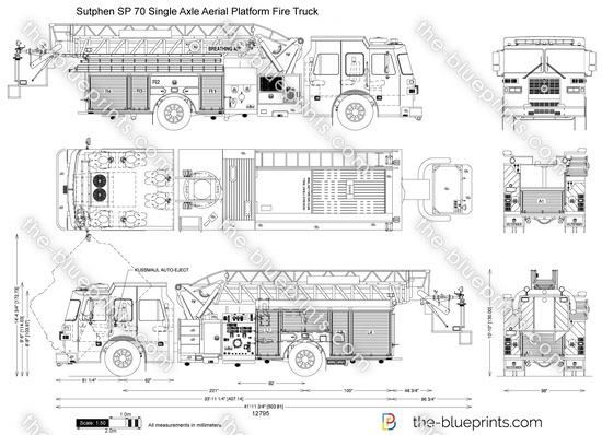 Sutphen SP 70 Single Axle Aerial Platform Fire Truck