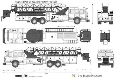 Sutphen SP 90 SP 100 Aerial Platform Fire Truck