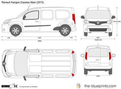 renault kangoo express maxi vector drawing. Black Bedroom Furniture Sets. Home Design Ideas