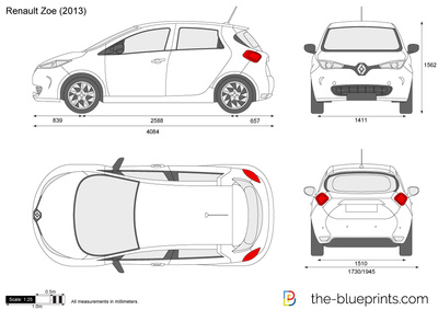 renault zoe vector drawing. Black Bedroom Furniture Sets. Home Design Ideas