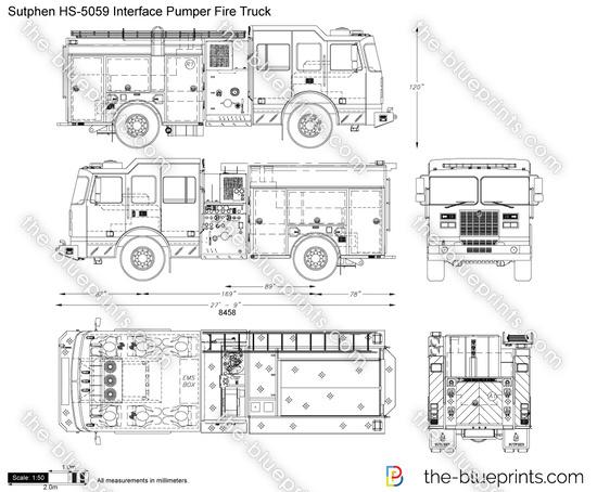 Sutphen HS-5059 Interface Pumper Fire Truck