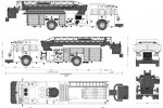 Sutphen HS-5109 SP70 Aerial Ladder FIre Truck