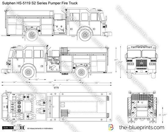 Sutphen HS-5119 S2 Series Pumper Fire Truck