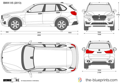 Bmw X5 F15 Vector Drawing