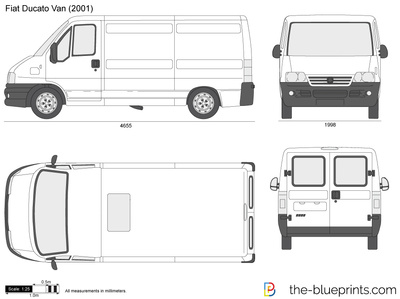 Fiat Ducato Van Vector Drawing