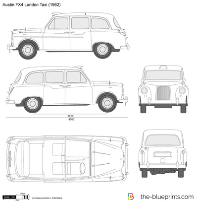 Austin fx4 london taxi vector drawing austin fx4 london taxi malvernweather Images