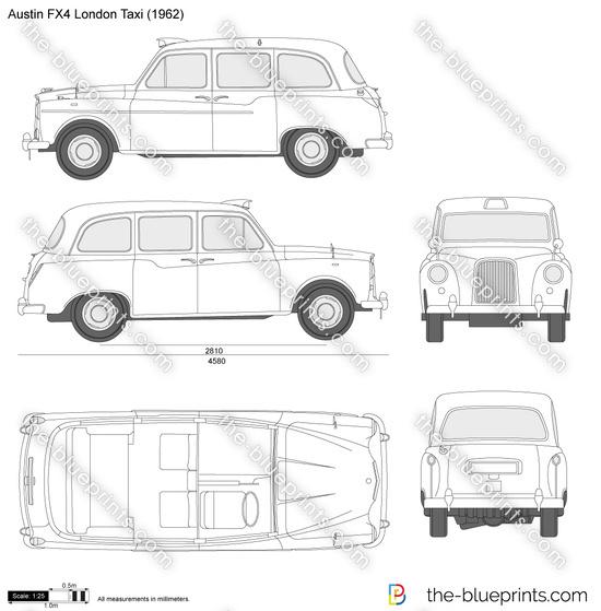 Austin fx4 london taxi vector drawing austin fx4 london taxi malvernweather Choice Image