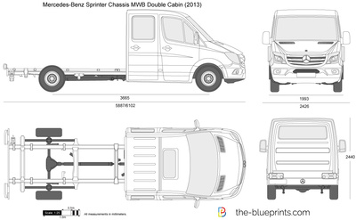 Mercedes-Benz Sprinter Chassis MWB Double Cabin