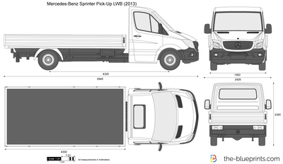 Mercedes-Benz Sprinter Pick-Up LWB
