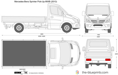 Mercedes-Benz Sprinter Pick-Up MWB
