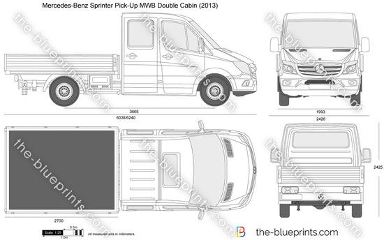 Mercedes-Benz Sprinter Pick-Up MWB Double Cabin