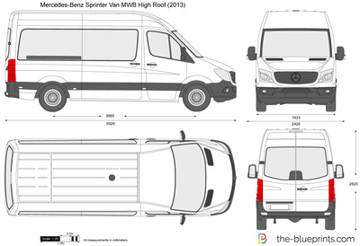 Mercedes-Benz Sprinter Van MWB High Roof