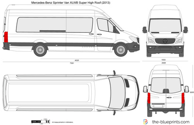 Mercedes-Benz Sprinter Van XLWB Super High Roof