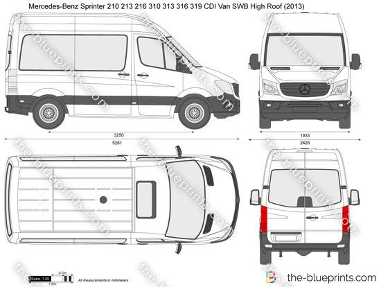 Mercedes-Benz Sprinter 210 213 216 310 313 316 319 CDI Van SWB High Roof