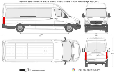 Mercedes-Benz Sprinter 310 313 316 319 413 416 510 513 516 519 CDI Van LWB High Roof