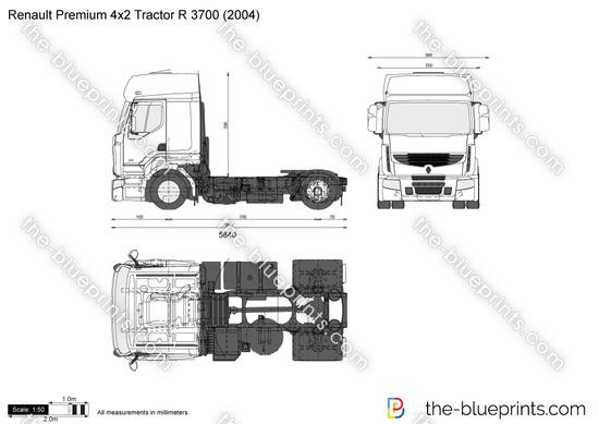 Renault Premium 4x2 Tractor R 3700