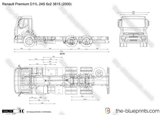 Renault Premium D11L 24S 6x2 3815
