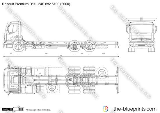 Renault Premium D11L 24S 6x2 5190