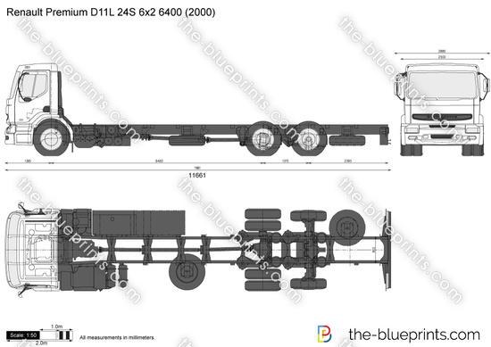 Renault Premium D11L 24S 6x2 6400