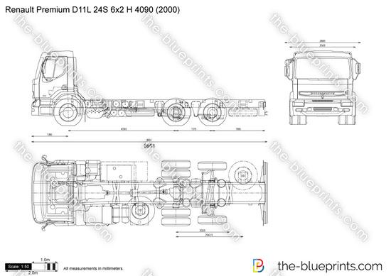 Renault Premium D11L 24S 6x2 H 4090