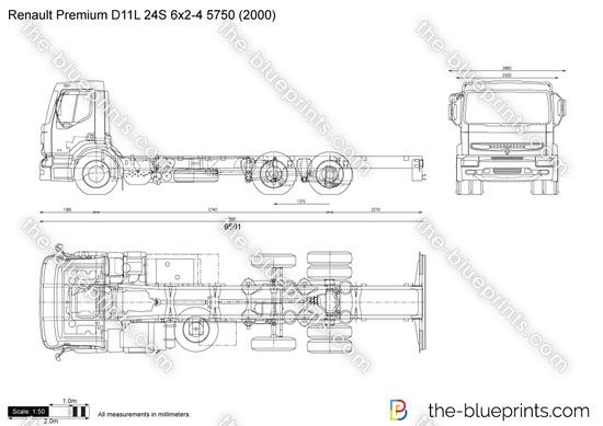Renault Premium D11L 24S 6x2-4 5750