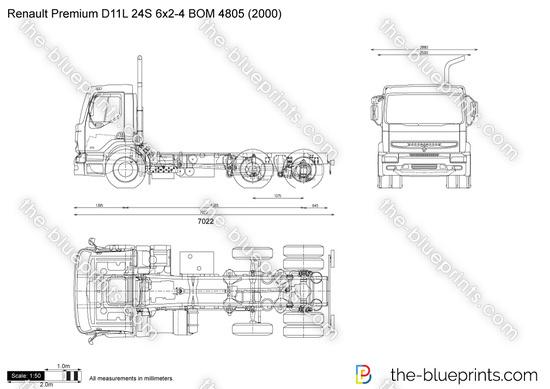 Renault Premium D11L 24S 6x2-4 BOM 4805
