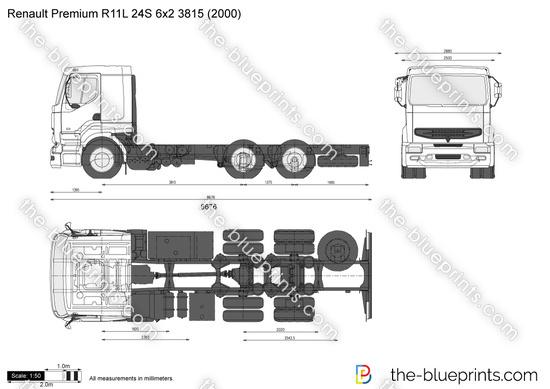 Renault Premium R11L 24S 6x2 3815