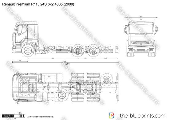 Renault Premium R11L 24S 6x2 4365