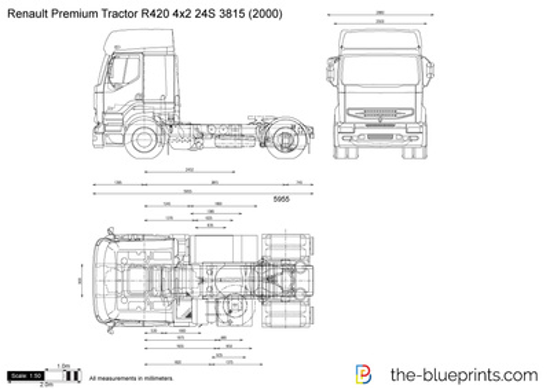 Renault Premium Tractor R420 4x2 24S 3815