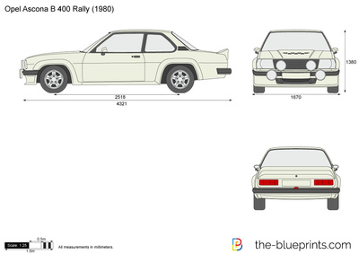 opel ascona b 400 rally vector drawing. Black Bedroom Furniture Sets. Home Design Ideas