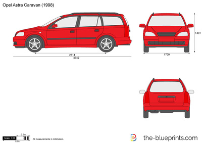 opel astra g caravan vector drawing. Black Bedroom Furniture Sets. Home Design Ideas