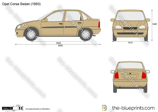 Opel Corsa B Sedan