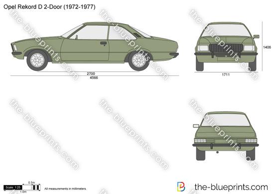 Opel Rekord D 2-Door