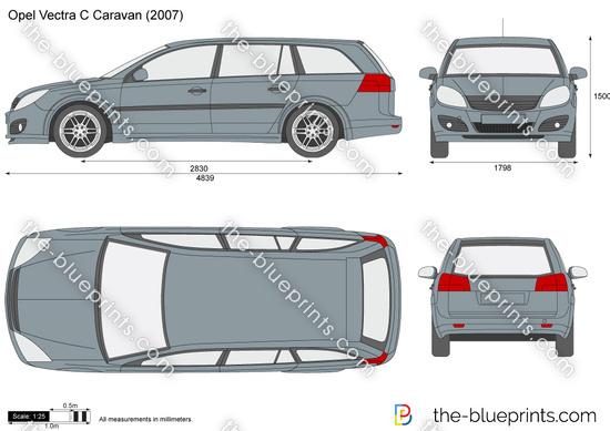 opel vectra c caravan vector drawing. Black Bedroom Furniture Sets. Home Design Ideas