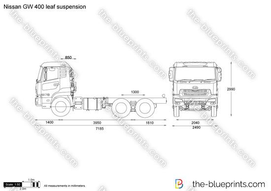 Nissan GW 400 leaf suspension