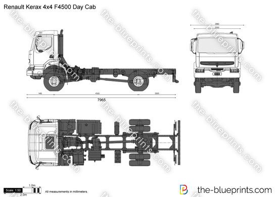 Renault Kerax 4x4 F4500 Day Cab
