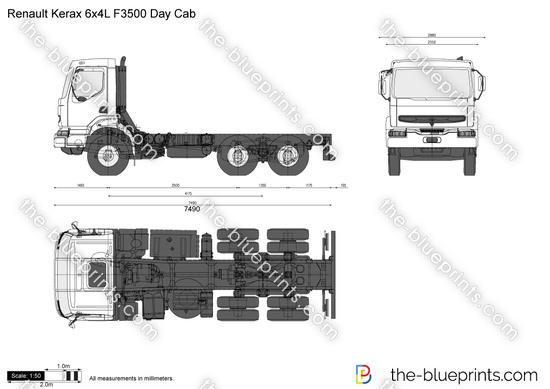 Renault Kerax 6x4L F3500 Day Cab