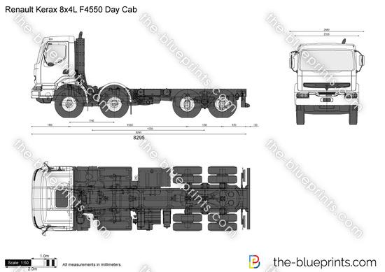 Renault Kerax 8x4L F4550 Day Cab
