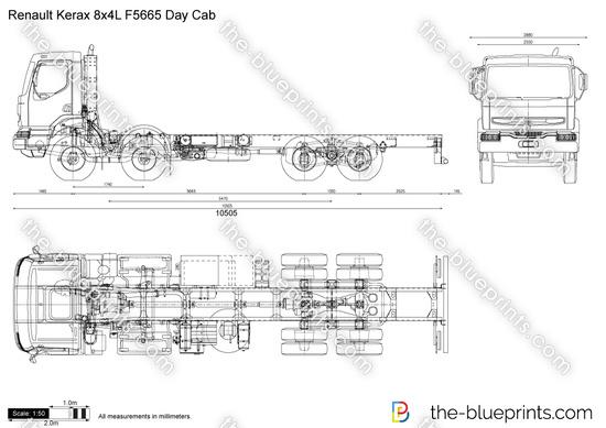 Renault Kerax 8x4L F5665 Day Cab
