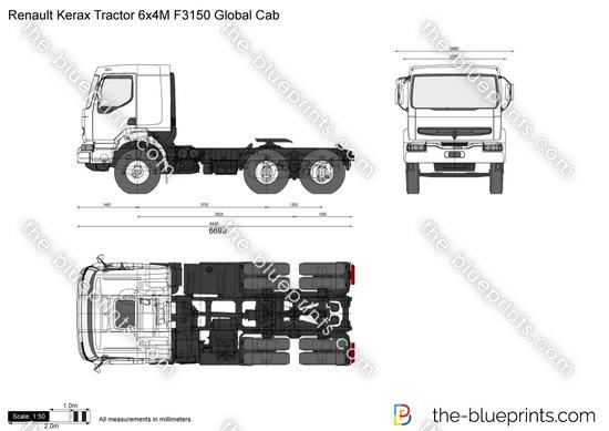 Renault Kerax Tractor 6x4M F3150 Global Cab