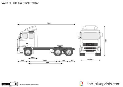 Volvo FH 400 6x2 Truck Tractor
