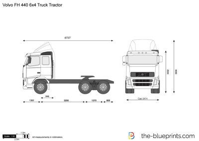 Volvo FH 440 6x4 Truck Tractor