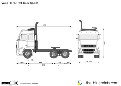 Volvo FH 550 6x4 Truck Tractor
