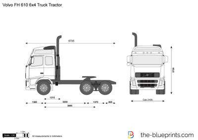 Volvo FH 610 6x4 Truck Tractor