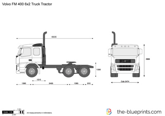 Volvo FM 400 6x2 Truck Tractor
