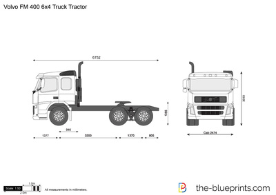 Volvo FM 400 6x4 Truck Tractor