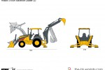 Hitachi 310SK Backhoe Loader (2)