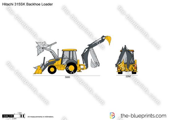 Hitachi 315SK Backhoe Loader